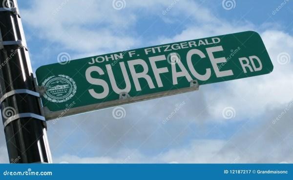 Boston Street Sign Stock Of Surface