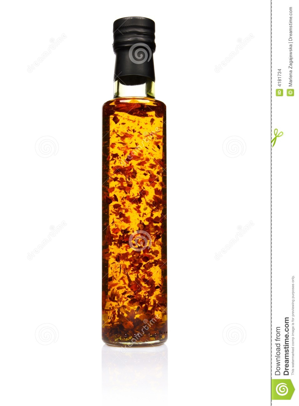 Bottle Of Spicy Olive Oil Stock Images  Image 4181734
