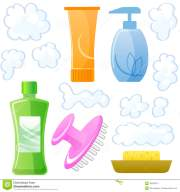 bottles of body and hair care