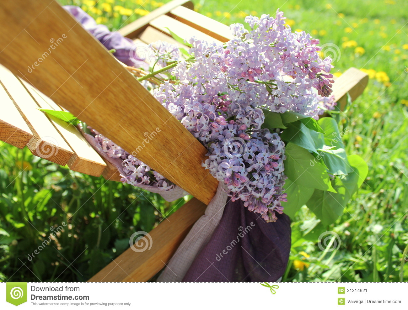 lilac office chair hooker dining chairs bouquet of lying on desk stock image