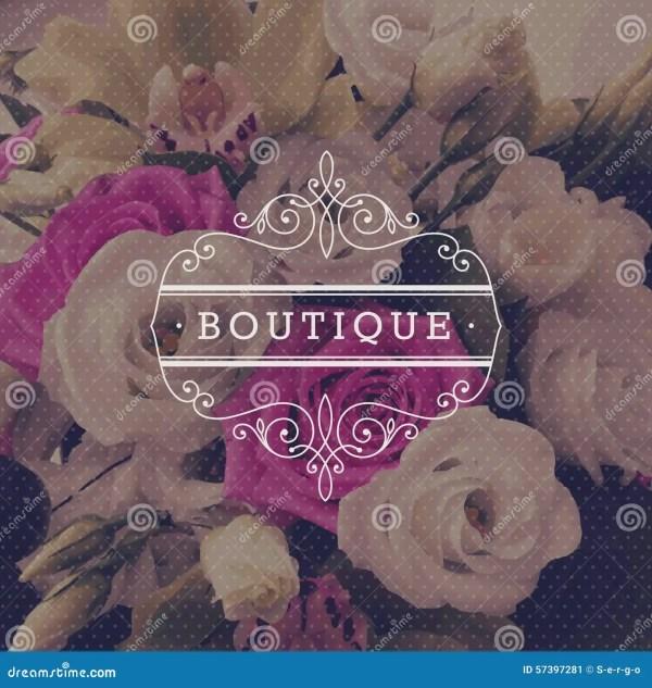 Boutique Logo Template Stock Vector - 57397281