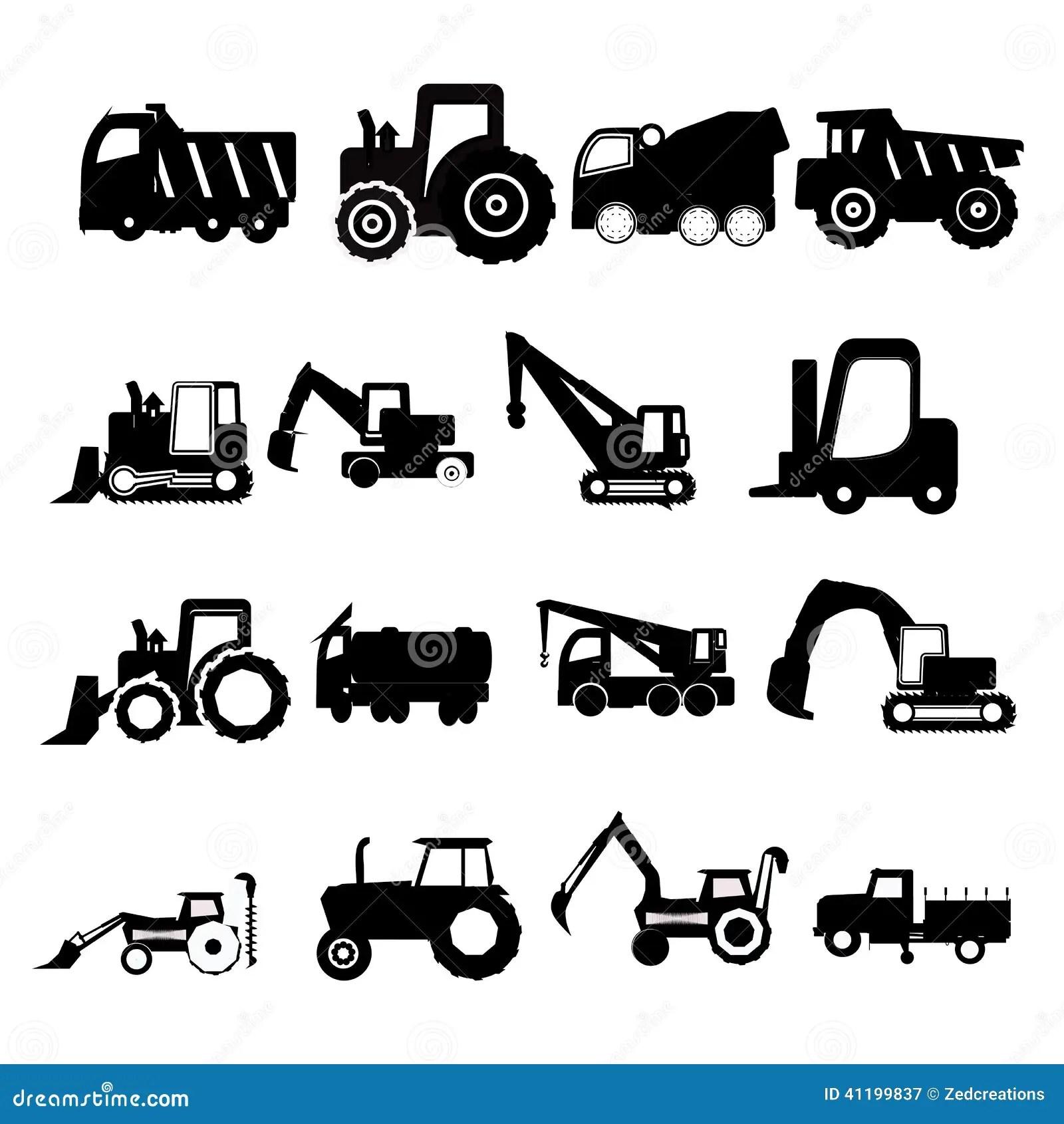 Bouwvoertuigen Vector Illustratie Illustratie Bestaande