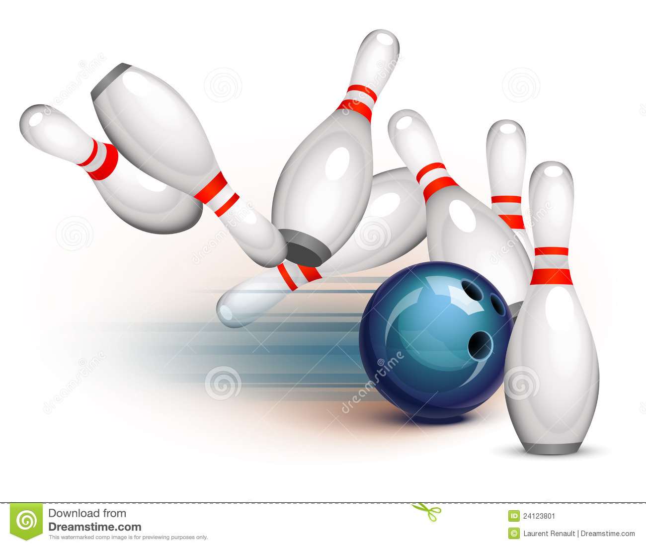 Bowling Game Side View Stock Image Image 24123801