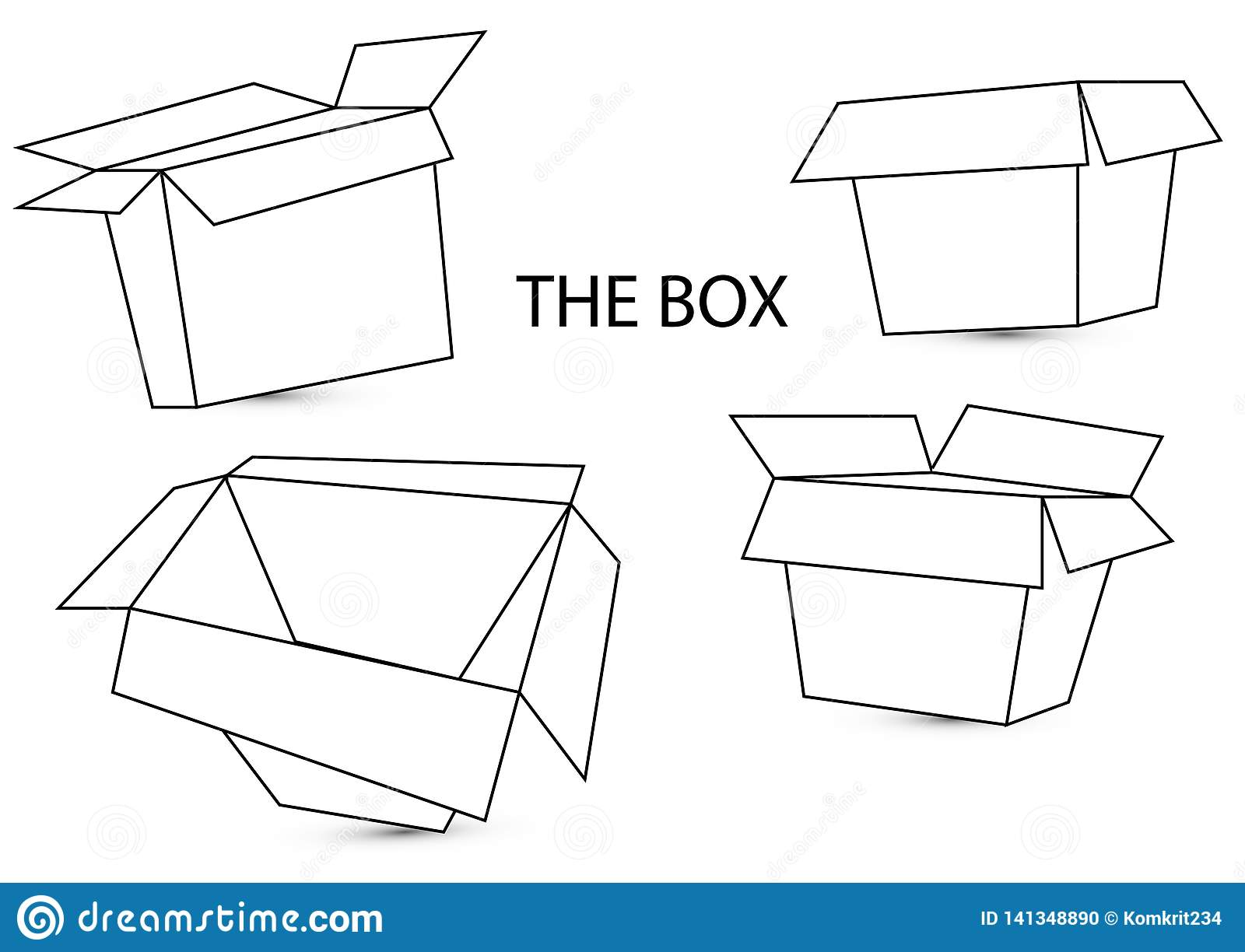 hight resolution of 3d box dimension with the top and side view on white background with shadow