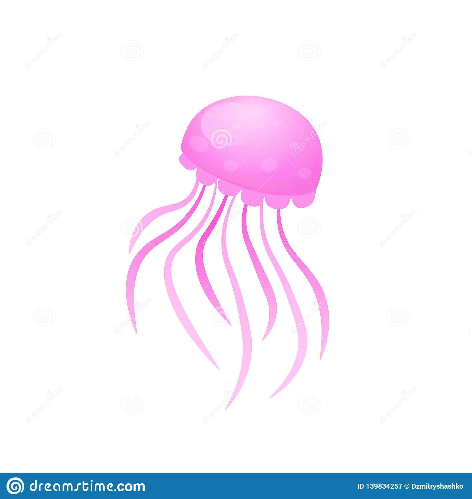 hight resolution of box jellyfish icon clipart image isolated on white background