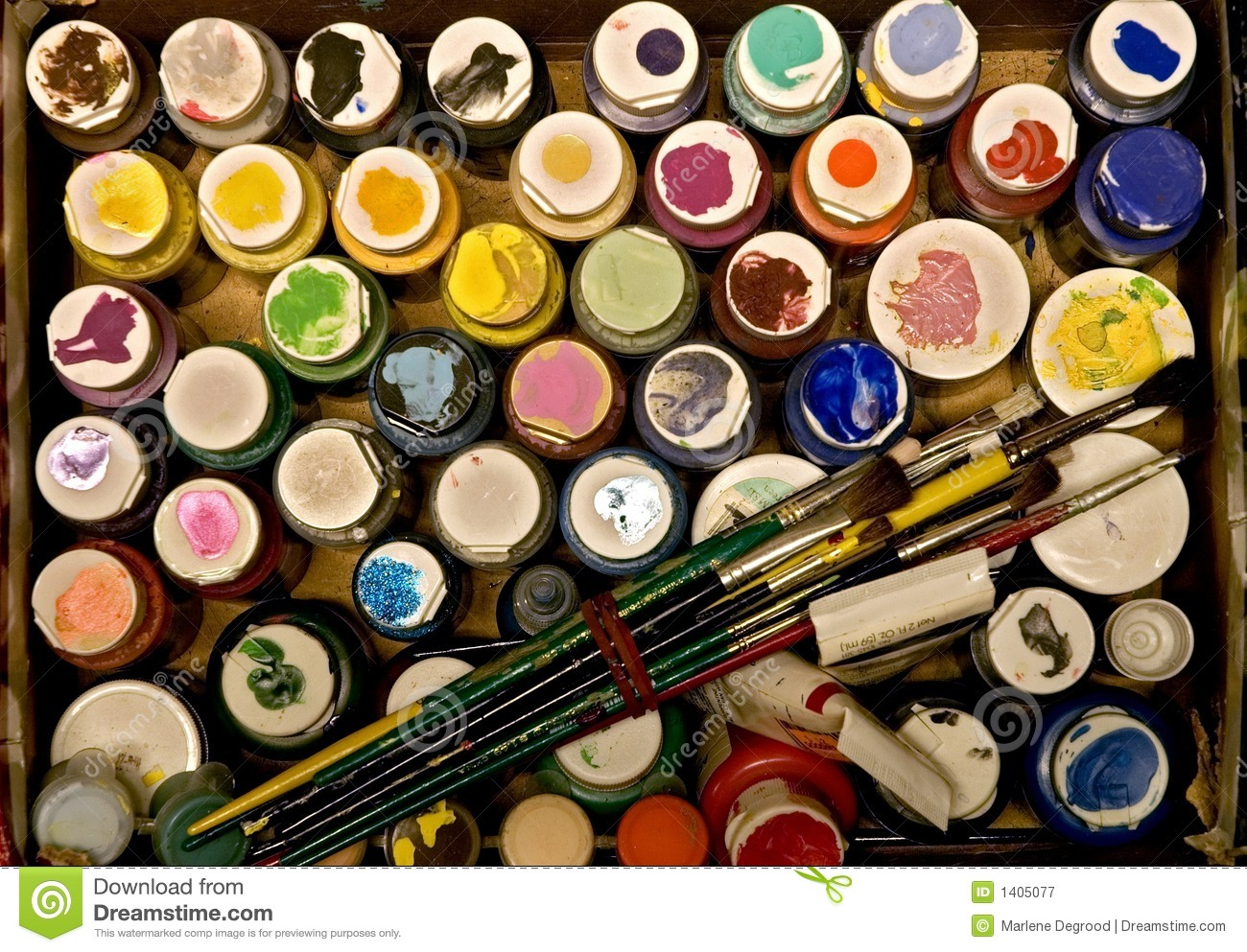 Box Of Paint Royalty Free Stock Photography Image 1405077