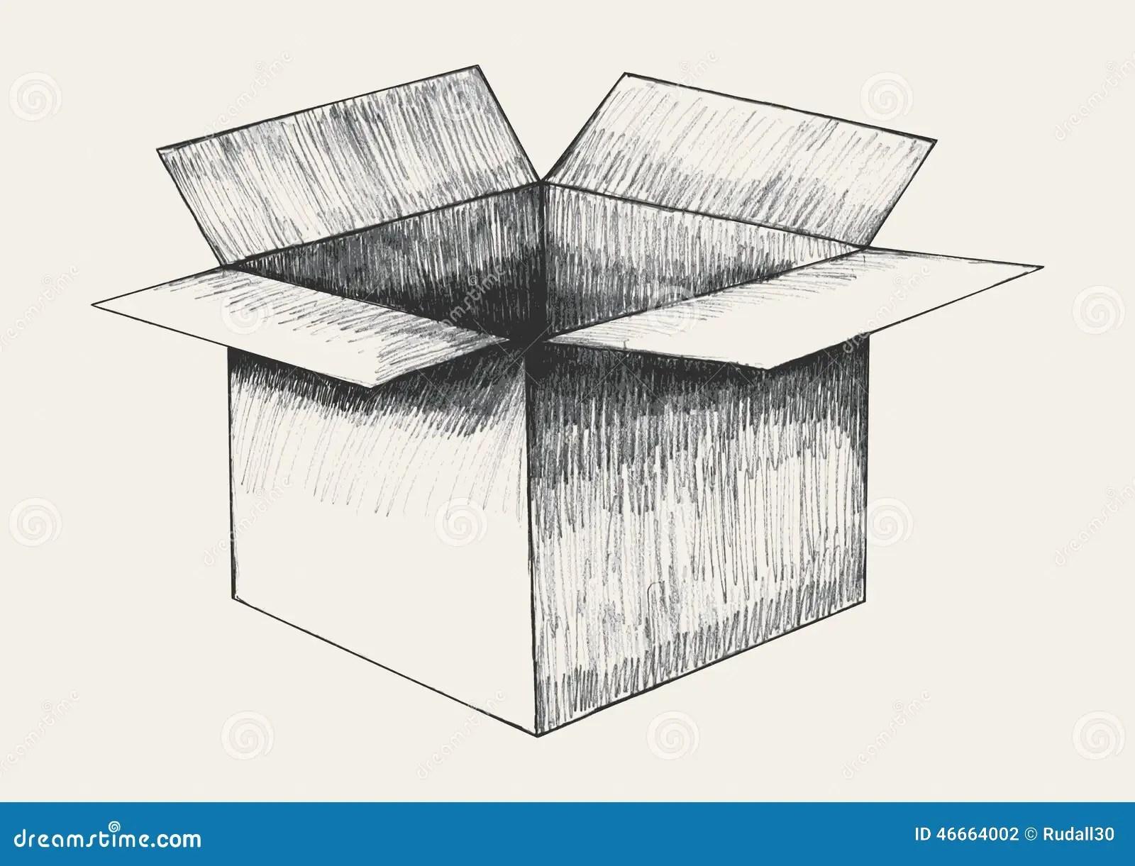 Box Sketch Stock Vector Illustration Of Body Sketch