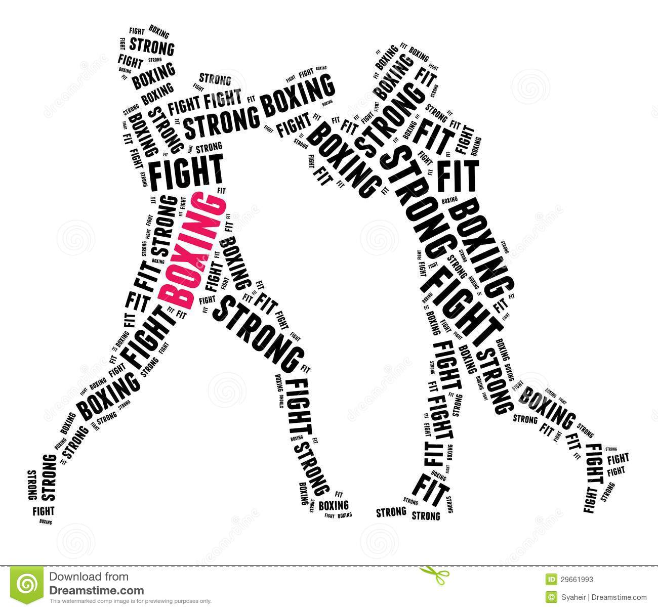 Boxing In Word Cloud Stock Photos