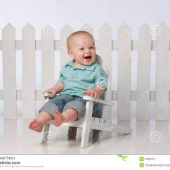 Little Boy Chairs Tufted Upholstered Office Chair In With Fence Stock Photography Image 9380522