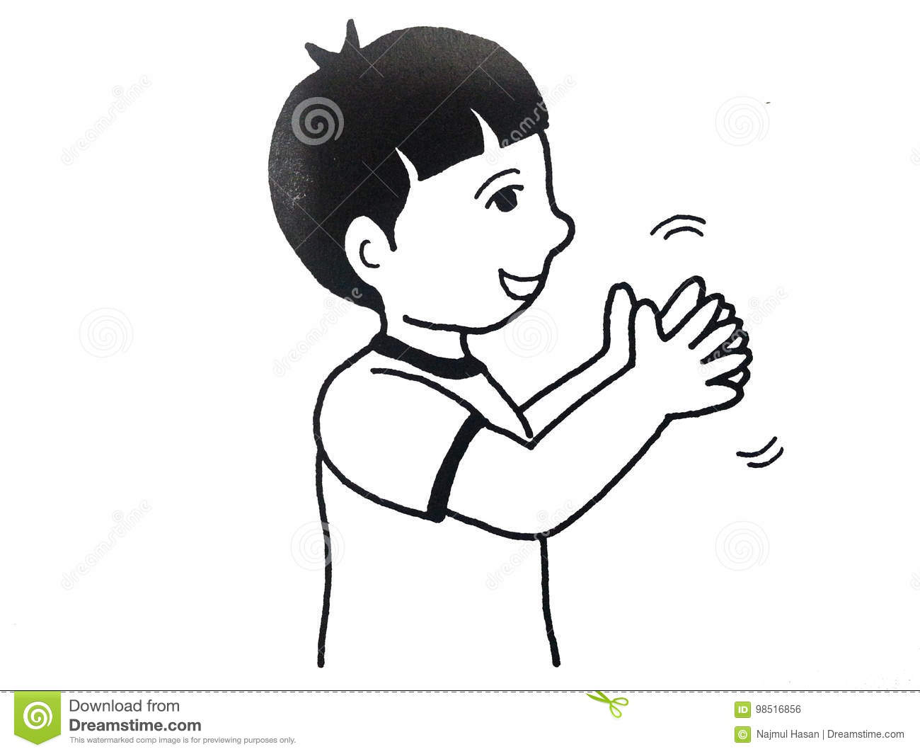 hight resolution of boy clapping hands stock illustration illustration of emotions