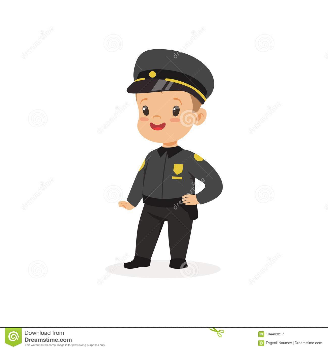 Boy Dream Of Being Grown Up And Working In Police