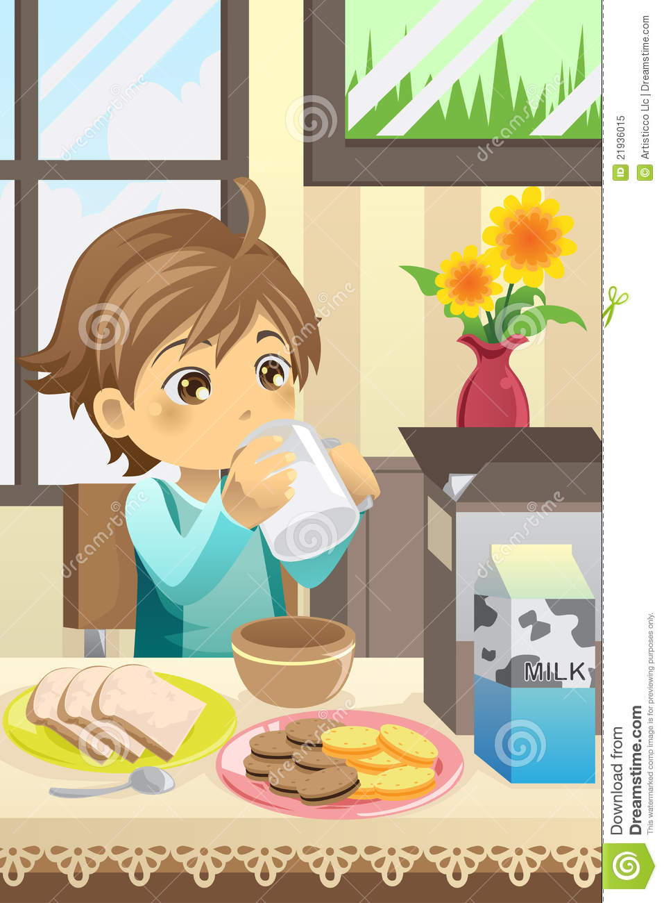 Boy Eating Breakfast Royalty Free Stock Photo  Image