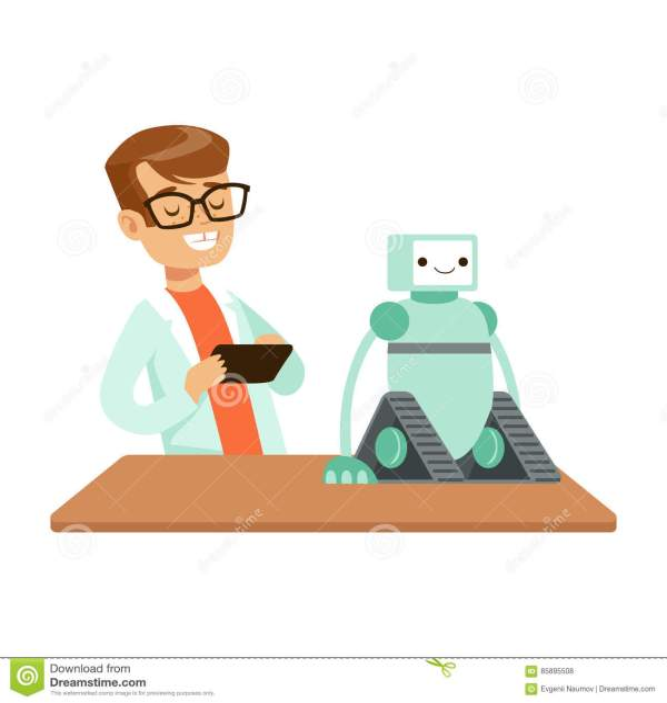 Boy Engineer And Robotics Experiment Kid Science