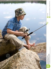 Boy Fishing Royalty Free Stock - 2333699