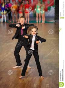 Boy And Girl Dance World Olympiad Editorial Stock