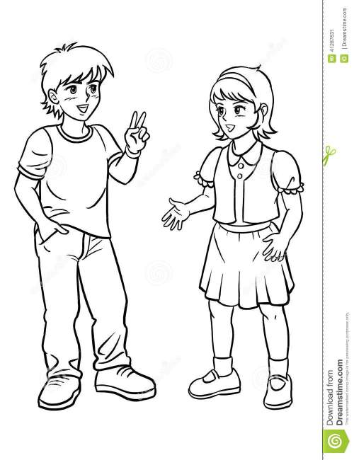 small resolution of boy and girl talking