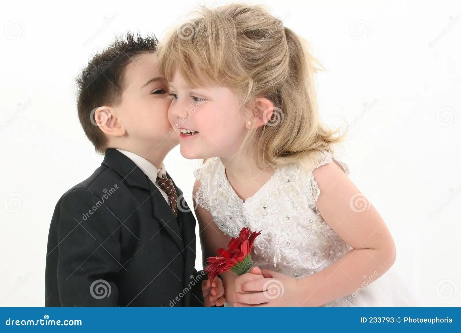 Cute Couple Holding Hand Wallpaper Boy Giving Girl A Kiss Stock Photos Image 233793