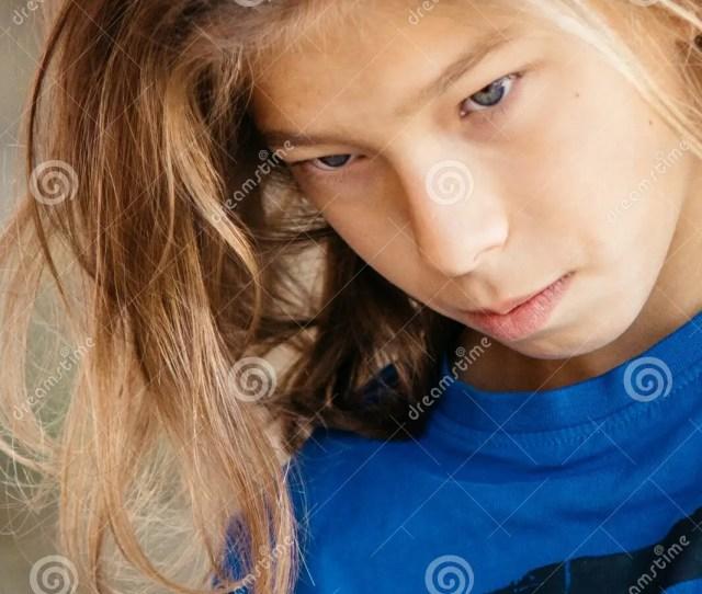 Teen Boy With Beautiful Long Hair
