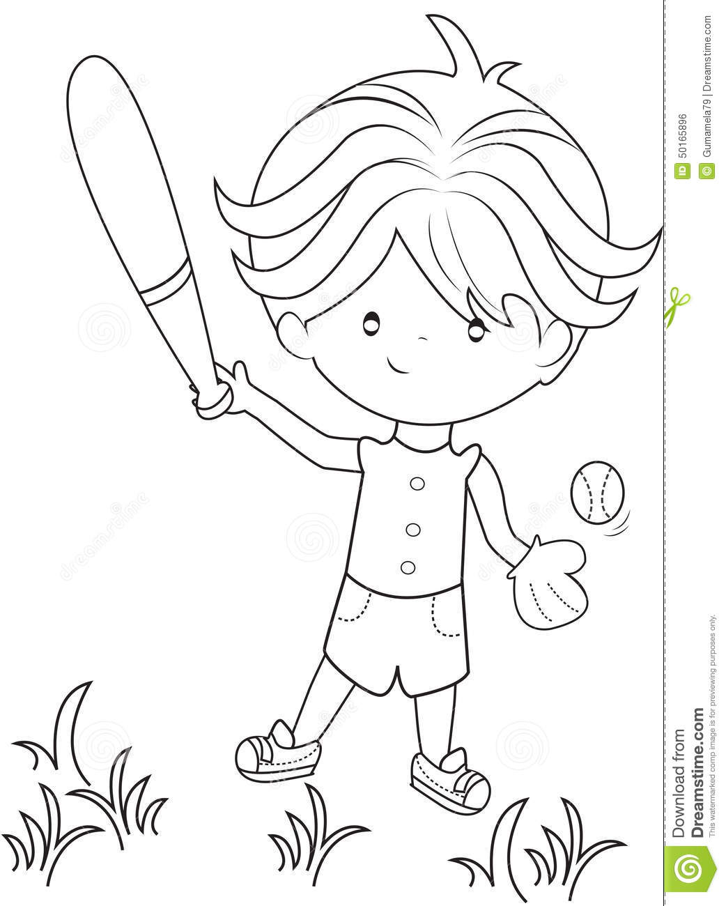 Cartoon Various Sports Kids On A White Background Vector