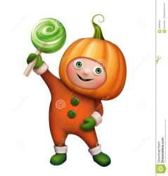 halloween pumpkin costume clipart clip character candy boy holding wearing ragazzo zucca isolated della