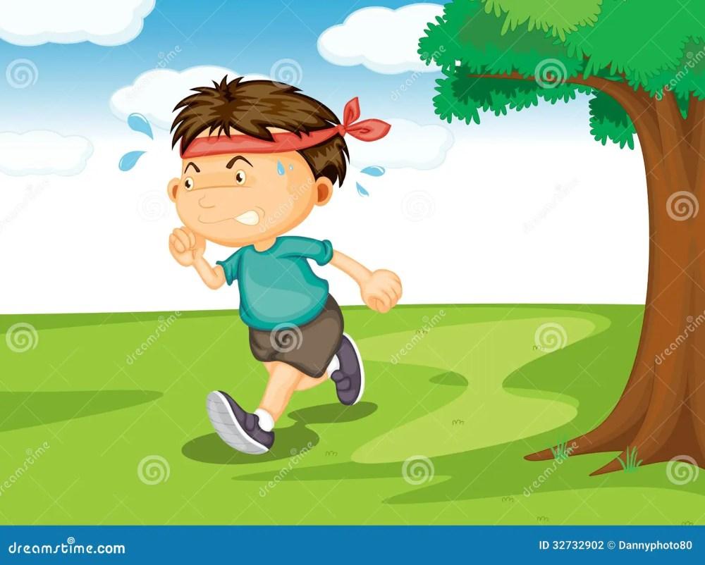 medium resolution of a boy running outside