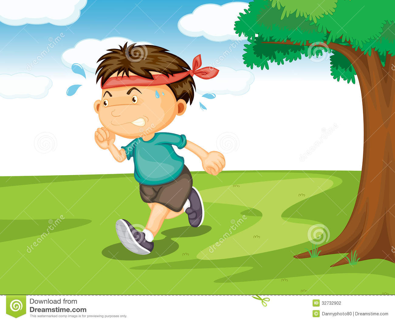 hight resolution of a boy running outside