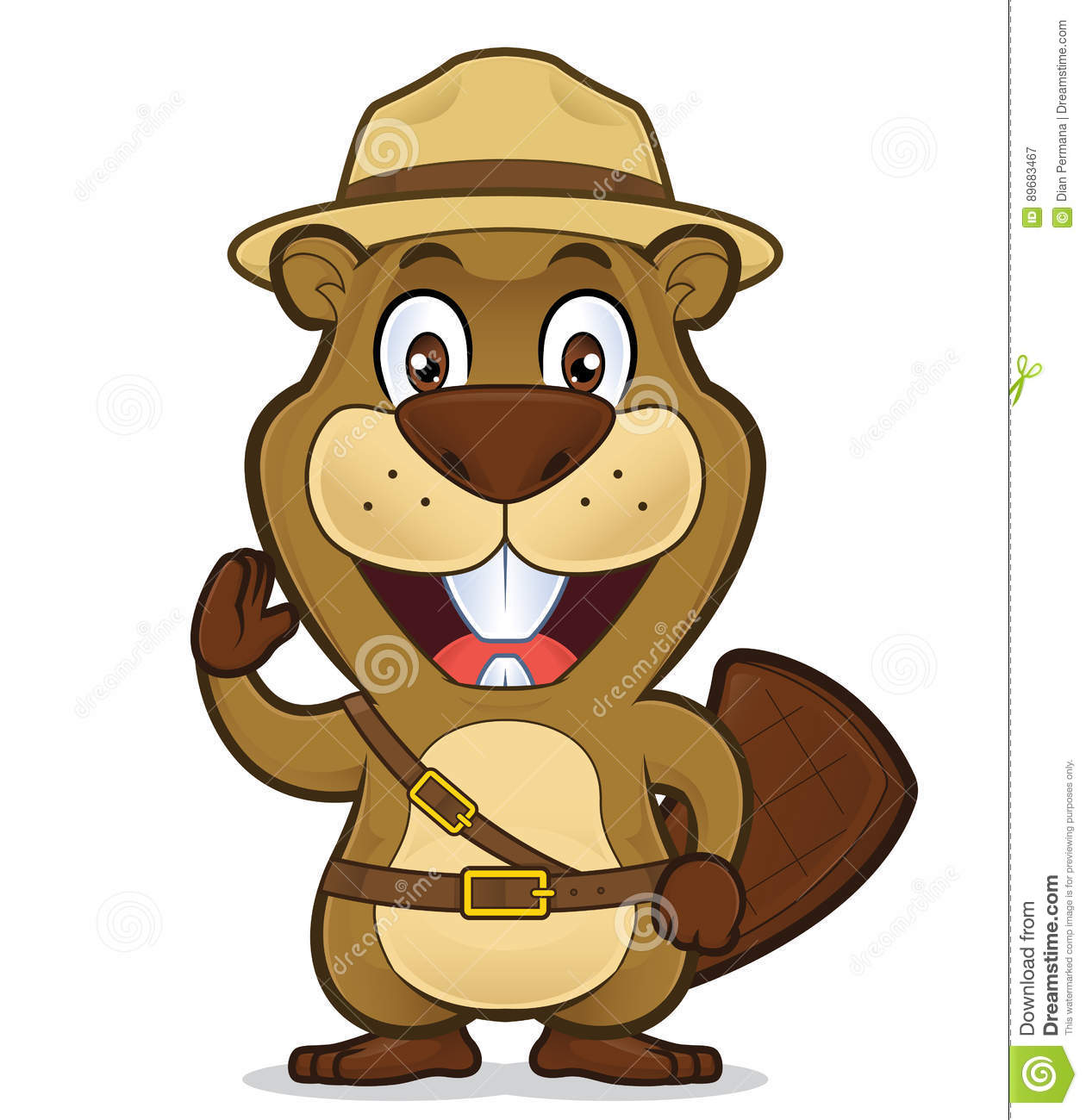 hight resolution of boy scout beaver