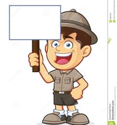 boy scout or explorer boy holding a blank sign [ 1130 x 1300 Pixel ]