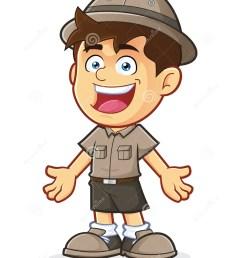 boy scout or explorer boy in welcoming gesture [ 1130 x 1300 Pixel ]