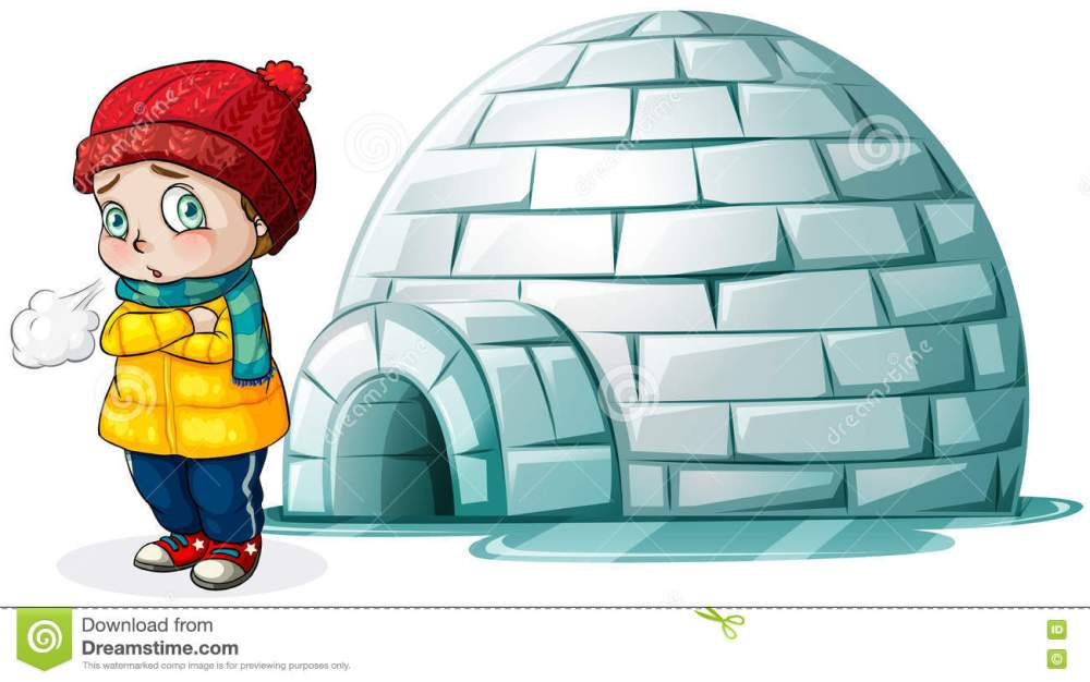 medium resolution of boy standing in front of igloo