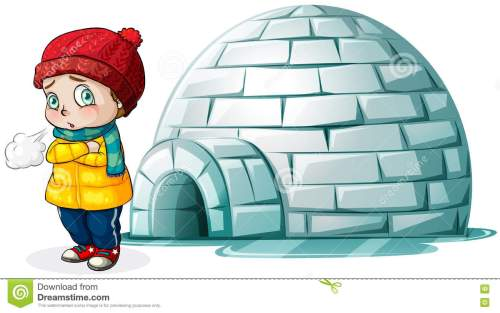small resolution of boy standing in front of igloo