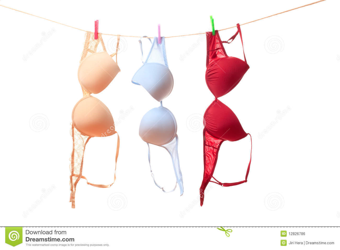 Bra Hanging On Clothes Line Royalty Free Stock Image