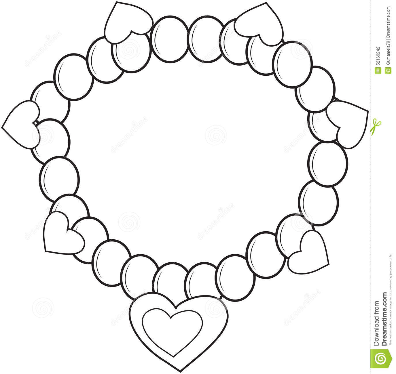 Bracelet coloring page stock illustration. Illustration of