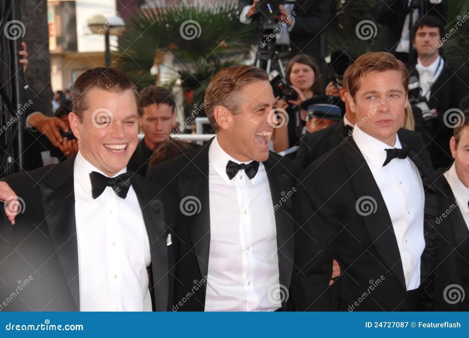 Brad Pitt, George Clooney, Matt Damon Photographie éditorial - Image: 24727087