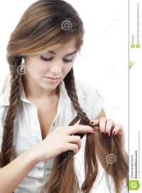 Braiding Hair Stock Image - Image: 5159641
