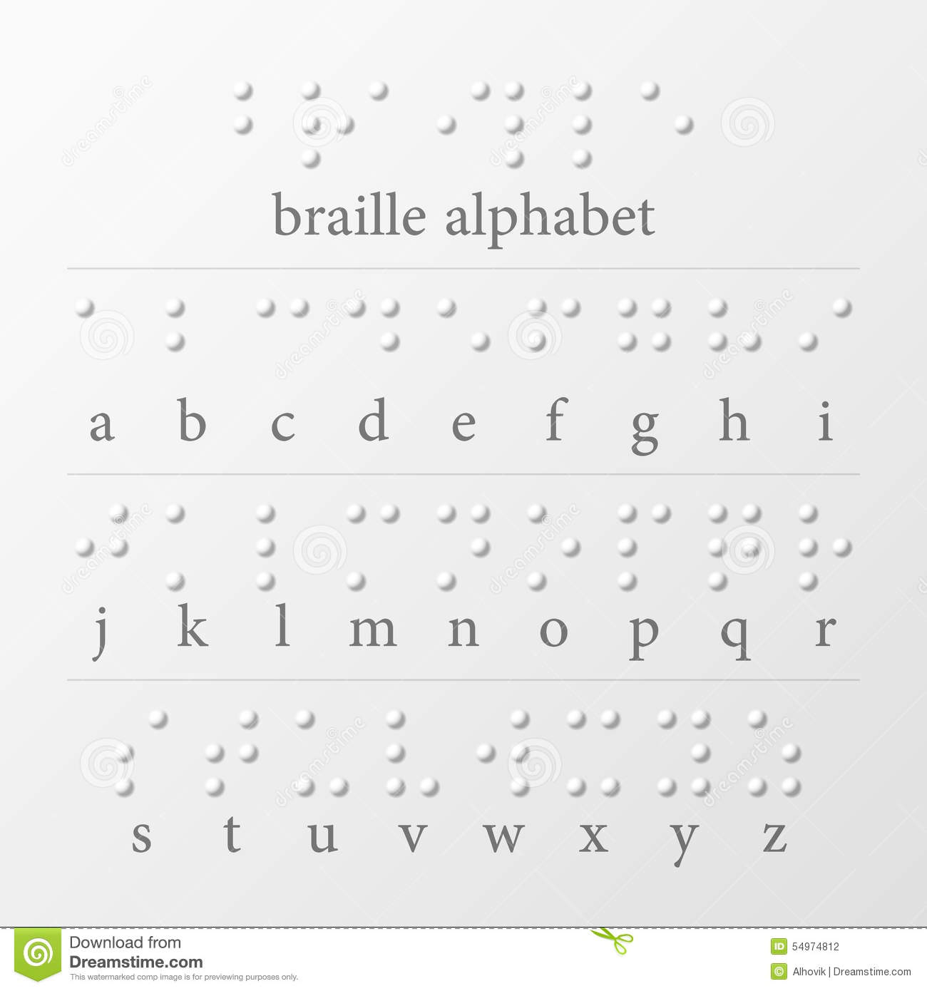 Braille Dots Alphabet Stock Vector Illustration Of