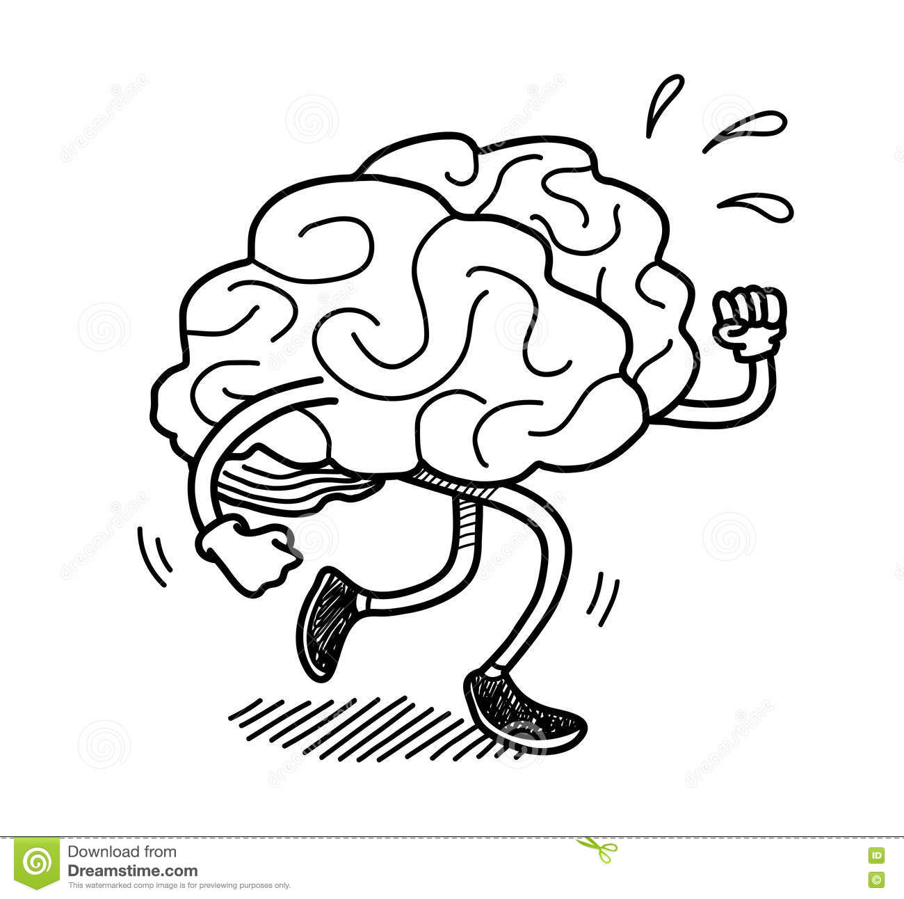 Brain Exercise Doodle Stock Vector Illustration Of