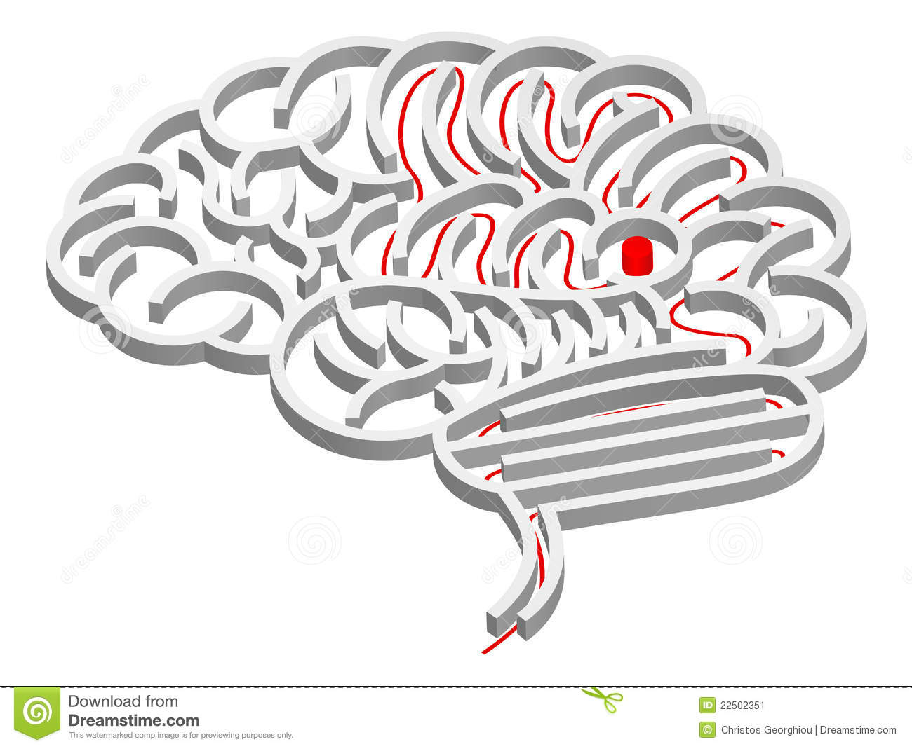Brain maze concept stock vector. Image of labyrinth
