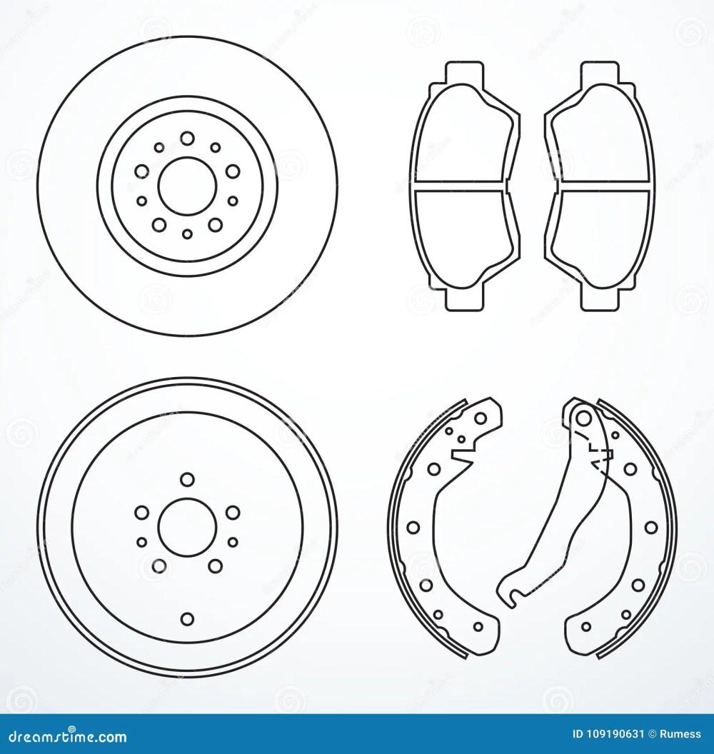 medium resolution of brake disc brake drum and brake pads brake parts icons