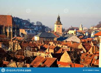 medieval urban typical town brasov transylvania walls country center schei autumn landscape european