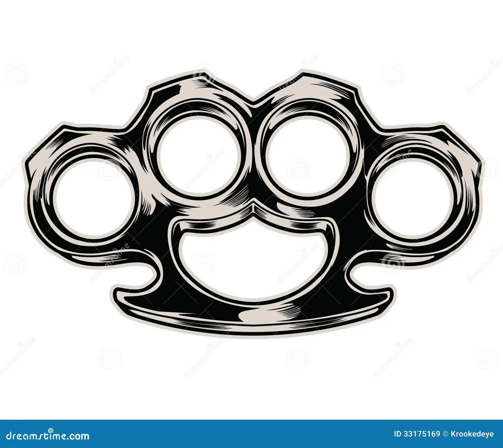 Brass knuckles stock vector Illustration of gear danger