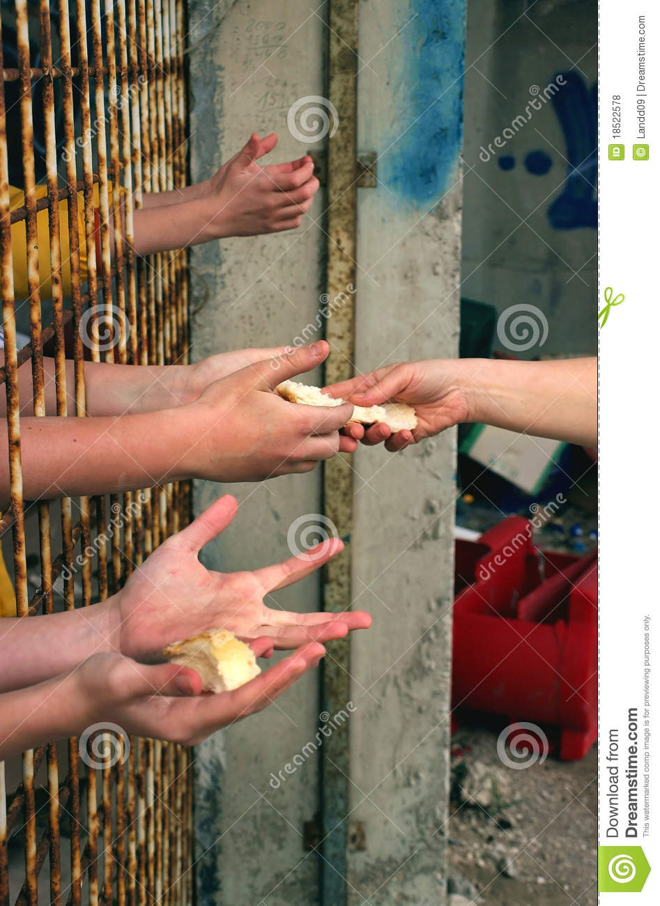 Bread For Hungry Hands Royalty Free Stock Photos Image