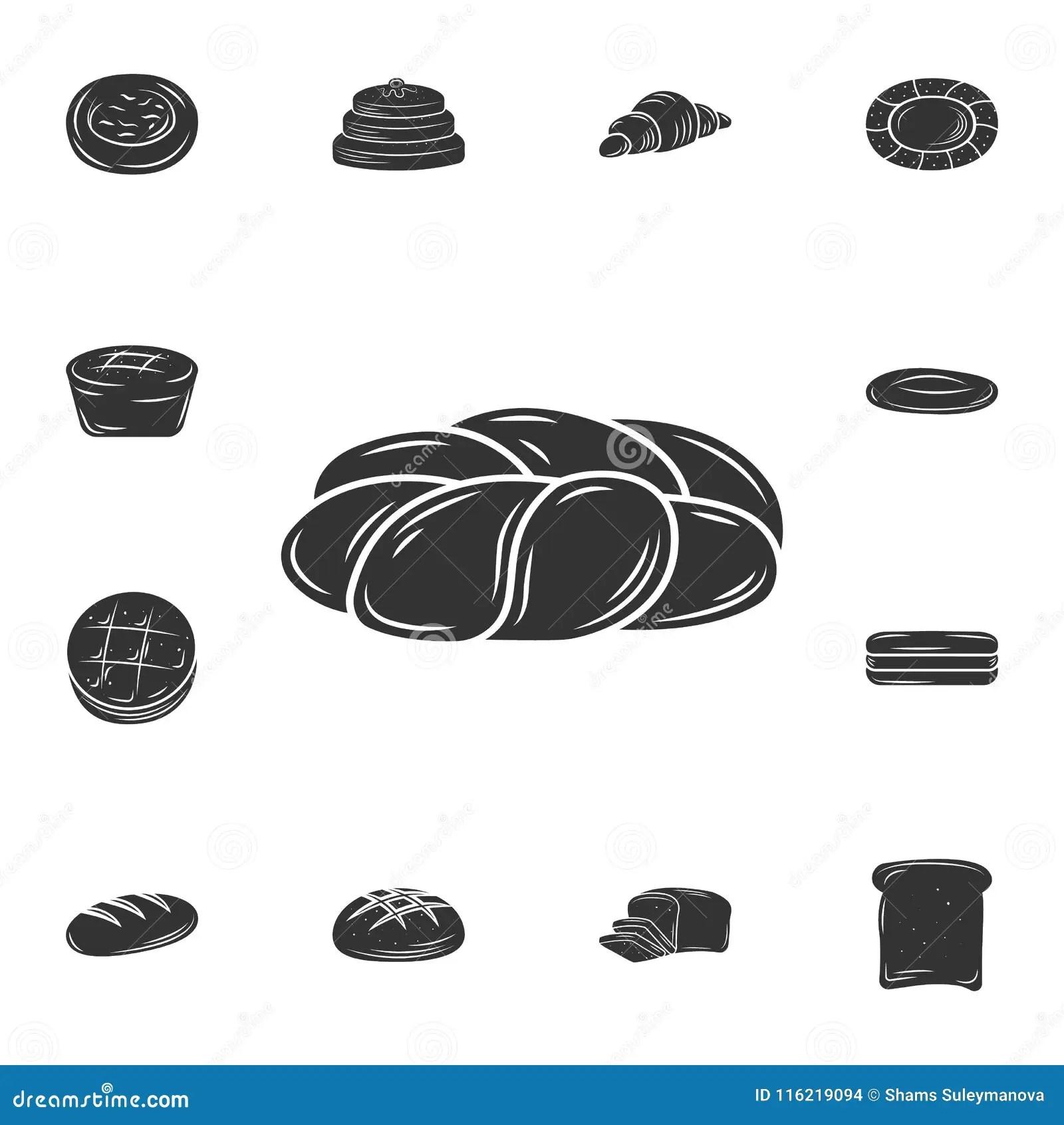 Slice Bread Bakery Pictogram Royalty Free Cartoon