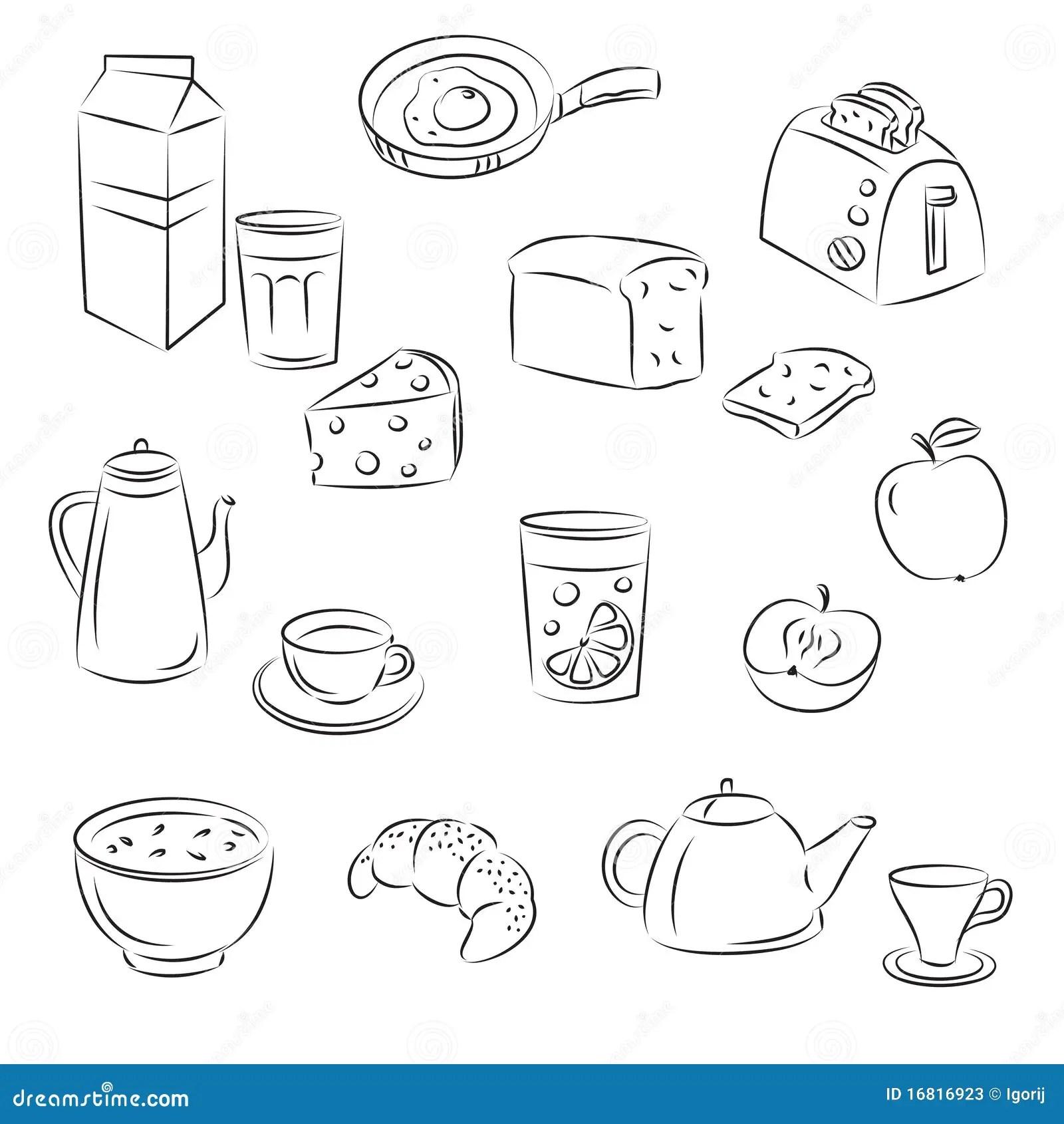 Breakfast Food Stock Vector Illustration Of Eggs Coffee