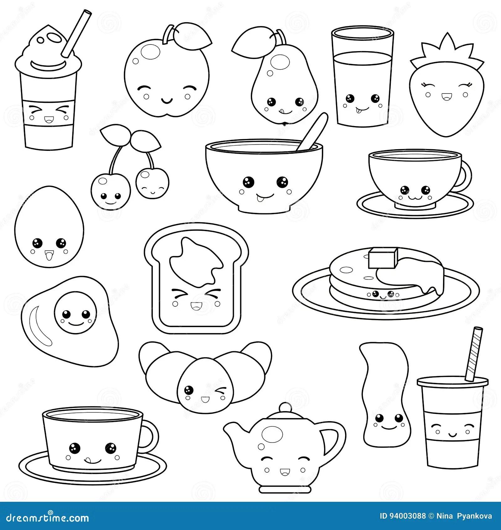 Breakfast Food And Beverages Stock Vector