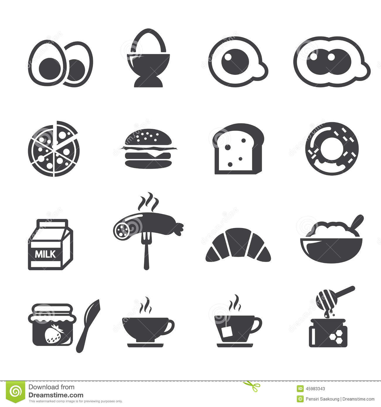 Breakfast Icon Stock Vector Illustration Of Continental