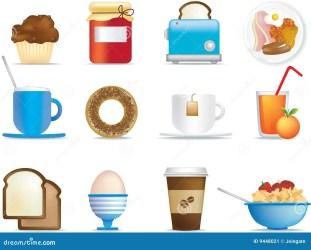 breakfast icons ontbijt het icon pictogrammen van illustrated fun items illustration dreamstime preview