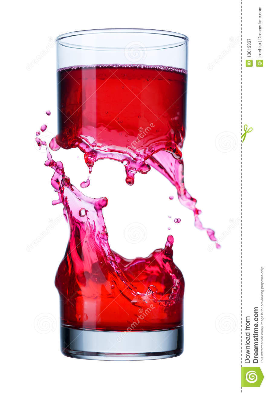 Breaking Glass Spilling Liquid Royalty Free Stock Photography Image 13013837