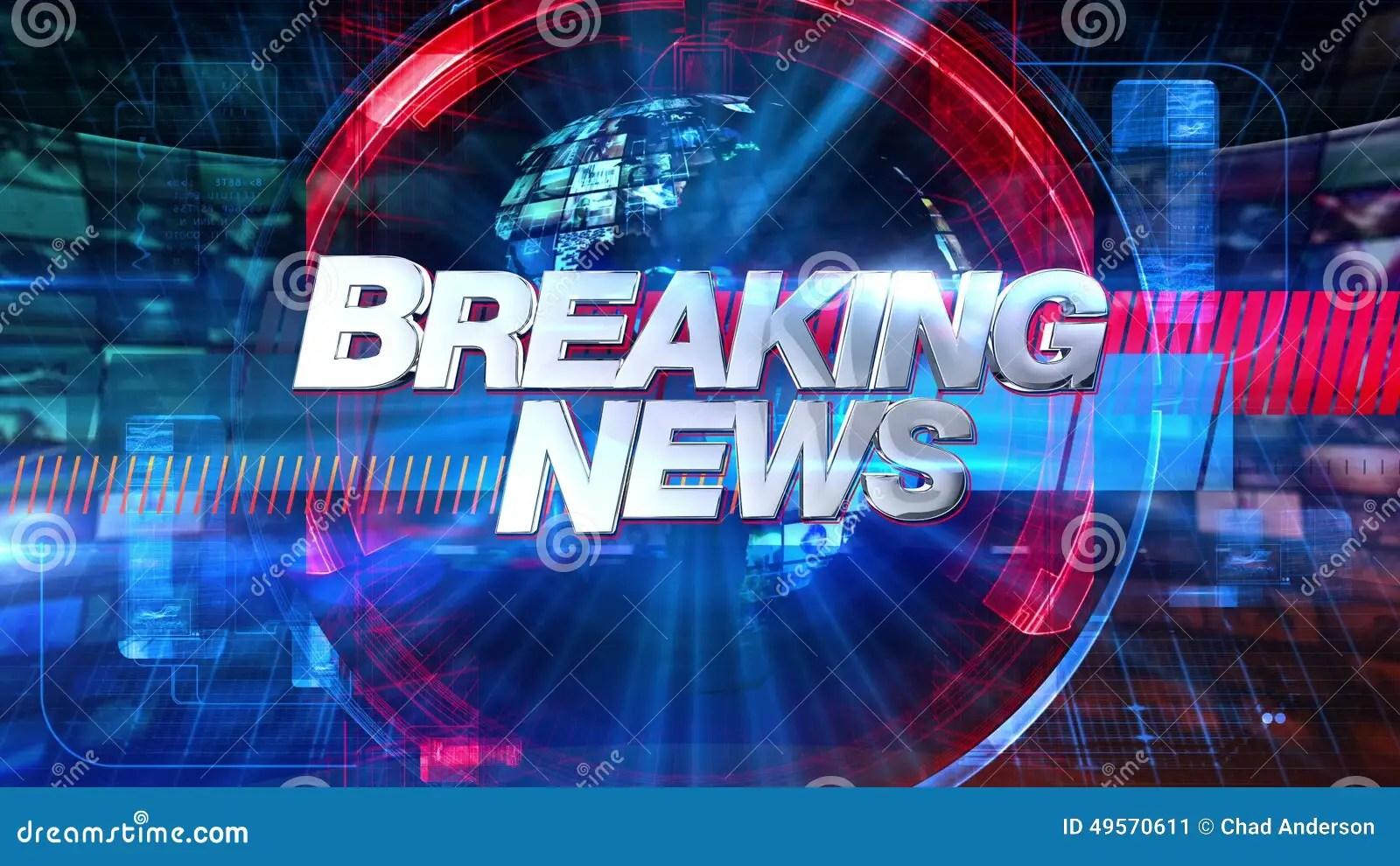Wallpaper Hd Portrait Orientation Breaking News Broadcast Animation Graphic Title 4k Stock
