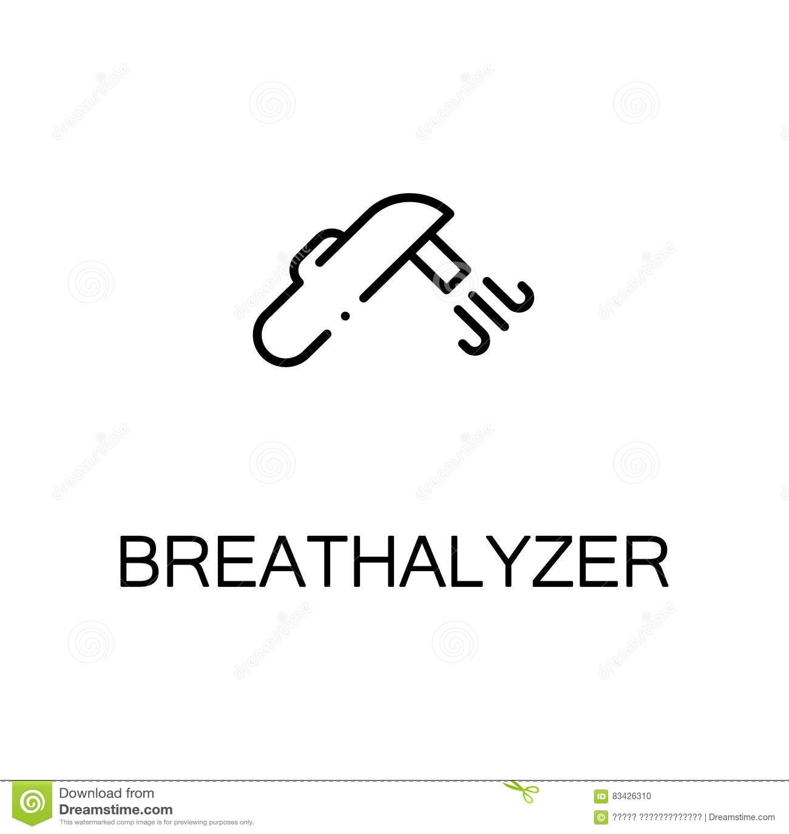 Breathalyzer Flat Icon Or Logo For Web Design Vector